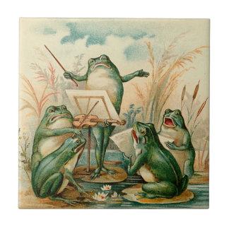 Ejemplo del vintage de la orquesta de la rana azulejo