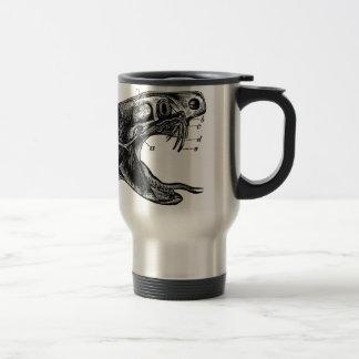 ejemplo del vintage de la serpiente de la víbora taza de viaje de acero inoxidable