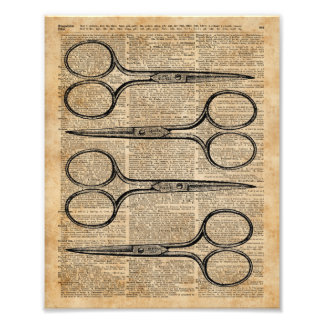 Ejemplo del vintage de las tijeras del peluquero fotografías