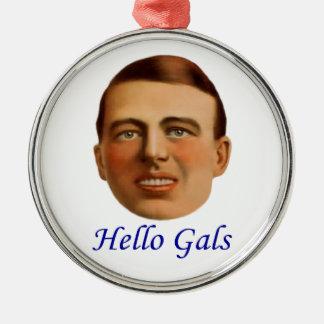 ejemplo del vintage de los años 20 - hola galones adorno redondo plateado