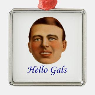 ejemplo del vintage de los años 20 - hola galones adorno cuadrado plateado