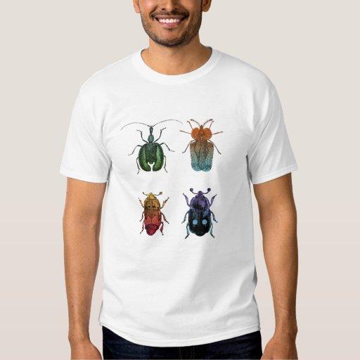 Ejemplo del vintage de los escarabajos camisas