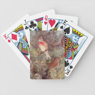 Ejemplo del vintage de los pájaros de Linnent Baraja Cartas De Poker