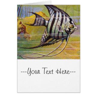 Ejemplo del vintage de un Angelfish Tarjeta De Felicitación
