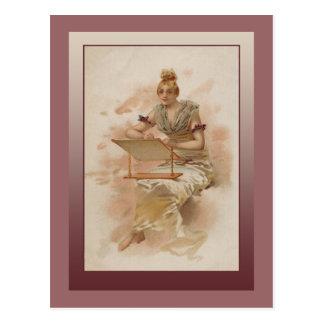 Ejemplo del vintage de una mujer hermosa postales