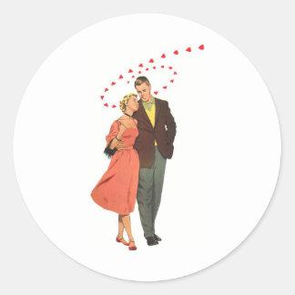 Ejemplo del vintage del amor y del romance etiquetas