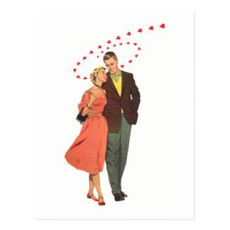 Ejemplo del vintage del amor y del romance tarjetas postales