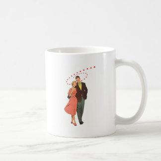 Ejemplo del vintage del amor y del romance taza clásica