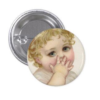 Ejemplo del vintage del beso del bebé hermoso pin