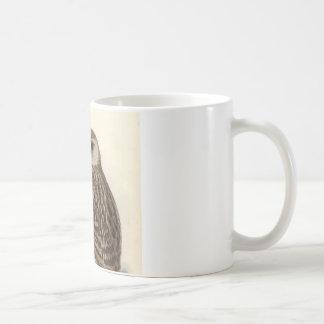 Ejemplo del vintage del búho de risa taza clásica