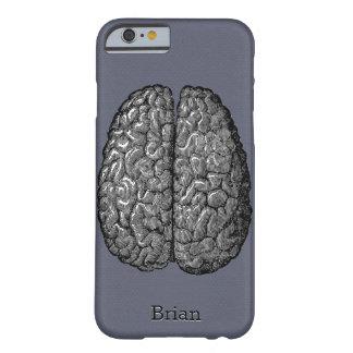 Ejemplo del vintage del cerebro humano funda de iPhone 6 barely there