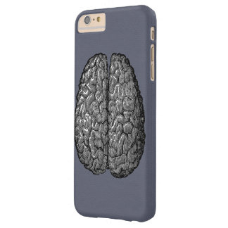 Ejemplo del vintage del cerebro humano funda de iPhone 6 plus barely there