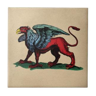 Ejemplo del vintage del grifo azulejo cuadrado pequeño