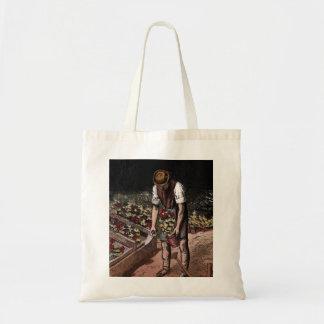 """Ejemplo del vintage """"del jardinero"""" bolsas lienzo"""