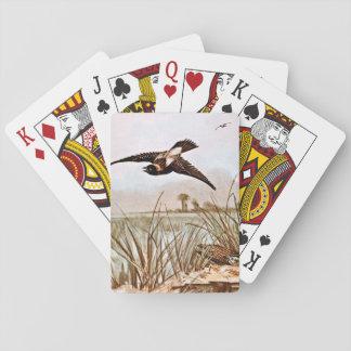 Ejemplo del vintage del pájaro de Bobolink Cartas De Póquer