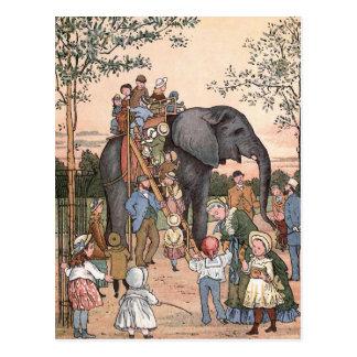 """Ejemplo del vintage """"del parque zoológico"""" postales"""