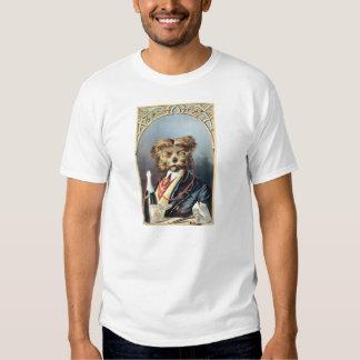 Ejemplo del vintage del perro del caballero polera