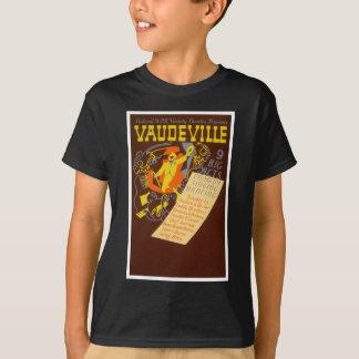 Ejemplo del vodevil del poster del vintage playera