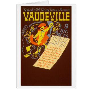Ejemplo del vodevil del poster del vintage tarjeta de felicitación