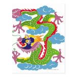 Ejemplo del vuelo chino del dragón tarjetas postales