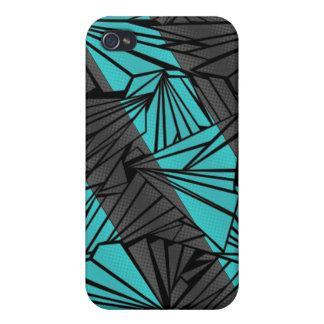 Ejemplo diagonal de cristal quebrado de la raya iPhone 4 carcasas
