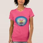 Ejemplo digital de la filosofía de la reflexión de camiseta