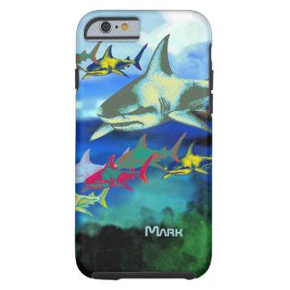 ejemplo digital de los tiburones funda para iPhone 6 tough