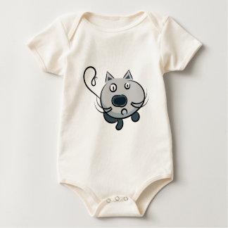 Ejemplo divertido del gato de la animación del mameluco de bebé