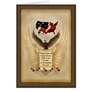 Ejemplo - Eagle - los E.E.U.U. - premio al éxito Tarjeta De Felicitación