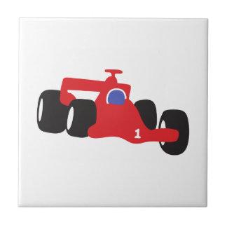 Ejemplo el competir con auto impreso en las azulejo cuadrado pequeño