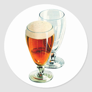 Ejemplo escarchado de los vidrios de cerveza de la pegatina redonda