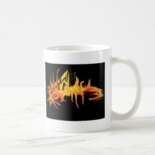ejemplo espeluznante abstracto del diseño del cará taza de café