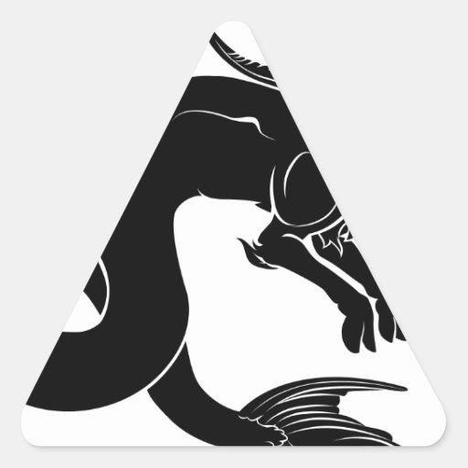 Ejemplo estilizado de la cabra del mar colcomanias de triangulo personalizadas