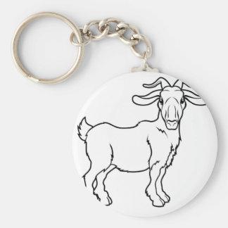 Ejemplo estilizado de la cabra llavero personalizado