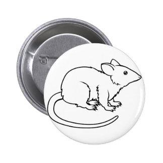 Ejemplo estilizado de la rata pin redondo 5 cm