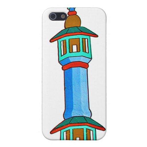 Ejemplo estilizado del alminar, (2) multicolor iPhone 5 protectores