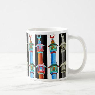 Ejemplo estilizado del alminar, multicolor taza clásica