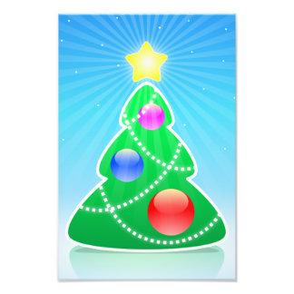 Ejemplo estilizado del árbol de navidad fotografias