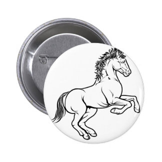 Ejemplo estilizado del caballo pin redondo 5 cm