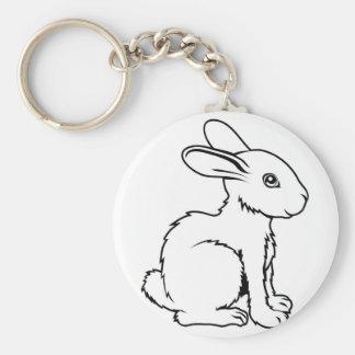 Ejemplo estilizado del conejo llavero personalizado