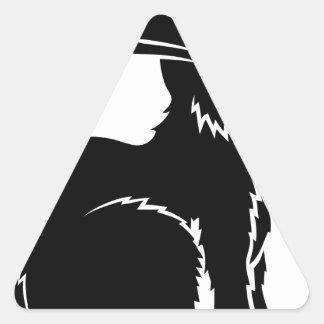 Ejemplo estilizado del conejo pegatinas trianguladas