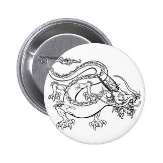 Ejemplo estilizado del dragón pins