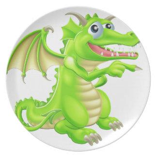 Ejemplo estilizado del dragón platos de comidas