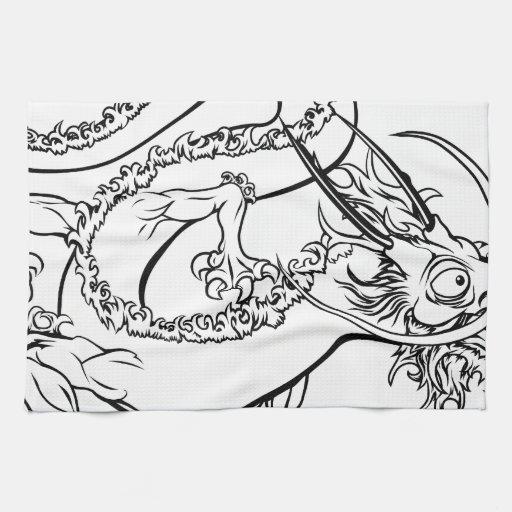 Ejemplo estilizado del dragón toalla