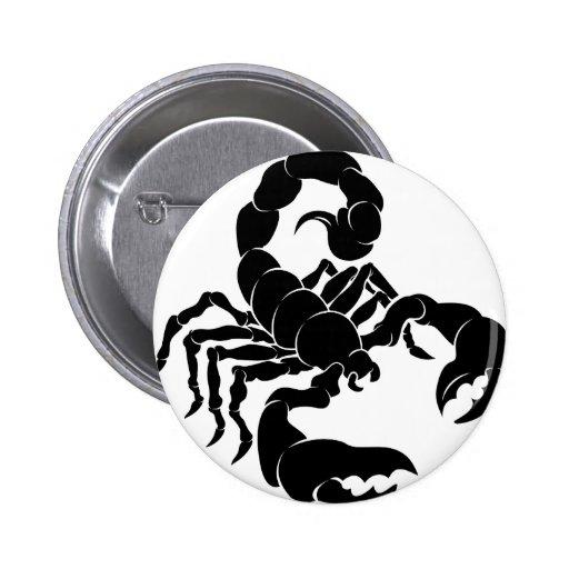 Ejemplo estilizado del escorpión pins