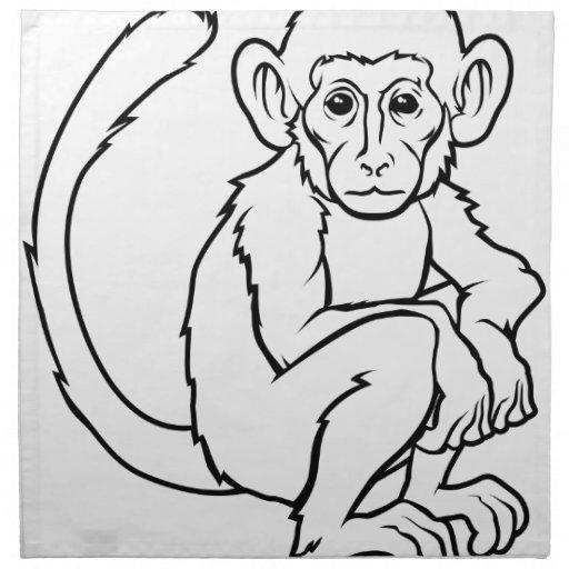 Ejemplo estilizado del mono servilleta