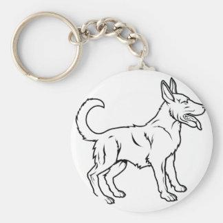 Ejemplo estilizado del perro llaveros personalizados