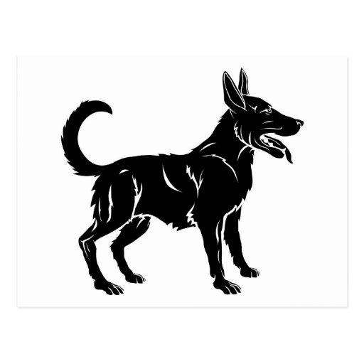 Ejemplo estilizado del perro tarjeta postal