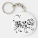 Ejemplo estilizado del tigre llaveros personalizados