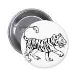 Ejemplo estilizado del tigre pins